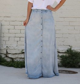 Light Denim Tencel Maxi Skirt