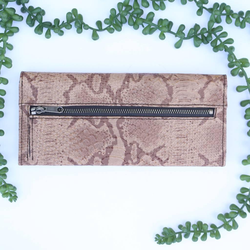 Snake Rust Tri-Fold Wallet