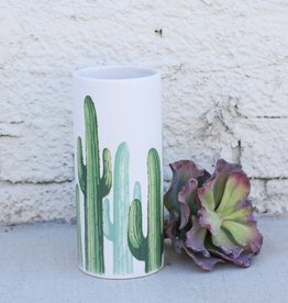 Small Cylinder Cacti Vase - Planter