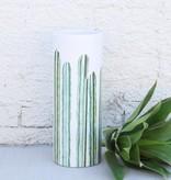 Large Cylinder Cacti Vase - Planter
