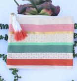 Metallic Striped Multipurpose Bag