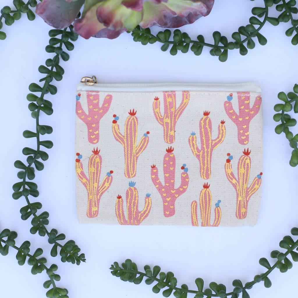 Mini Metallic Cactus Multipurpose Bag