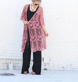 Mauve Lace Duster