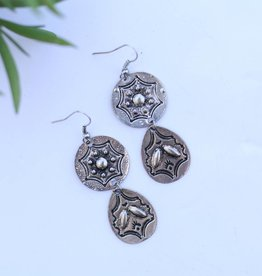 Round and Teardrop Concho Earring
