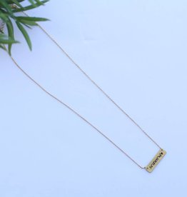 Burnished Gold with Silver Texas Bar Chain Necklace