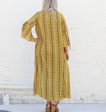 Mustard Vintage Print Duster