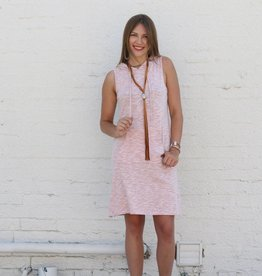 Sleeveless Hoodie Dress Tunic
