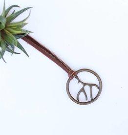 Vestige Brass Antler Necklace