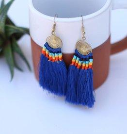 Cobalt Blue Daze Earring