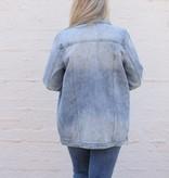 Recycled Distressed Boyfriend Denim Jacket