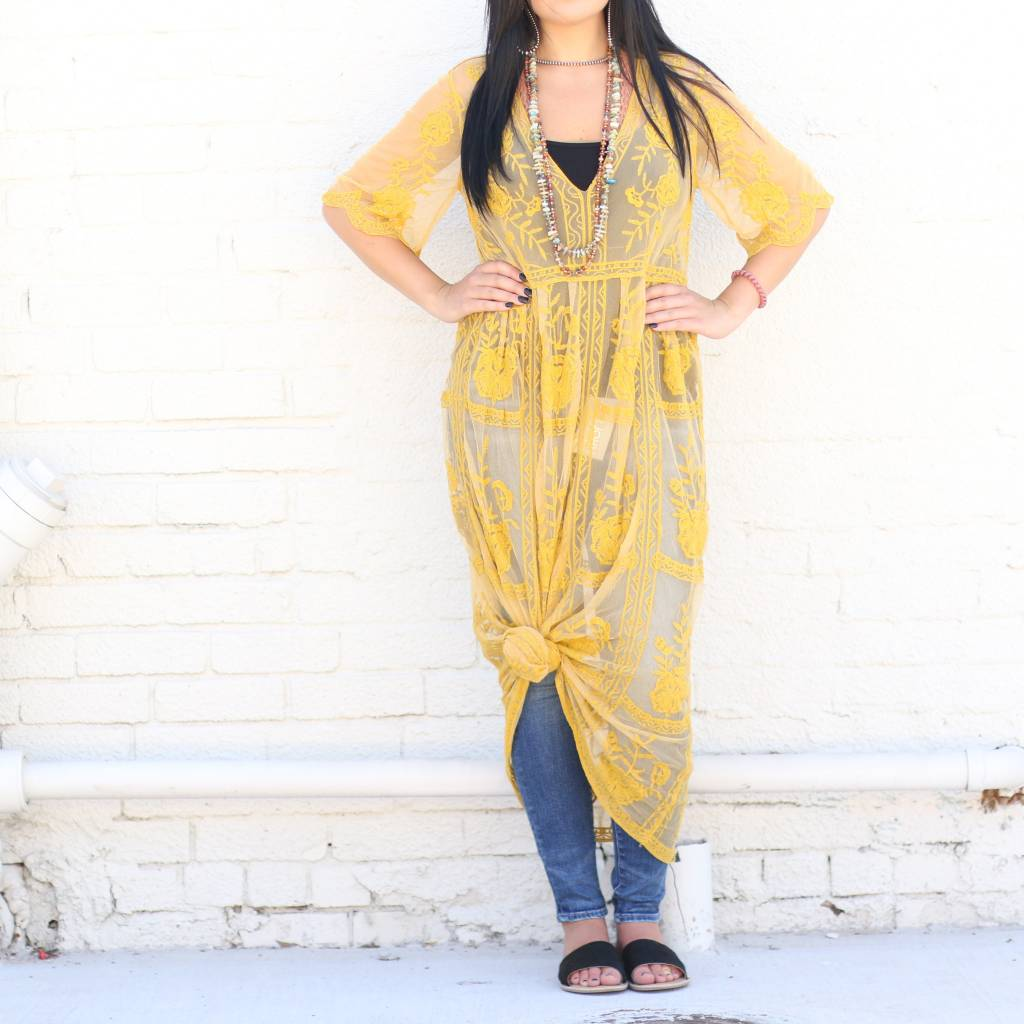 Punchy's Pullover Lace Maxi Dress