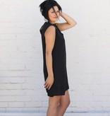 Scallop Trim Cut Out Choker Dress