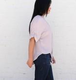 Linen Lavender Front Tie Top