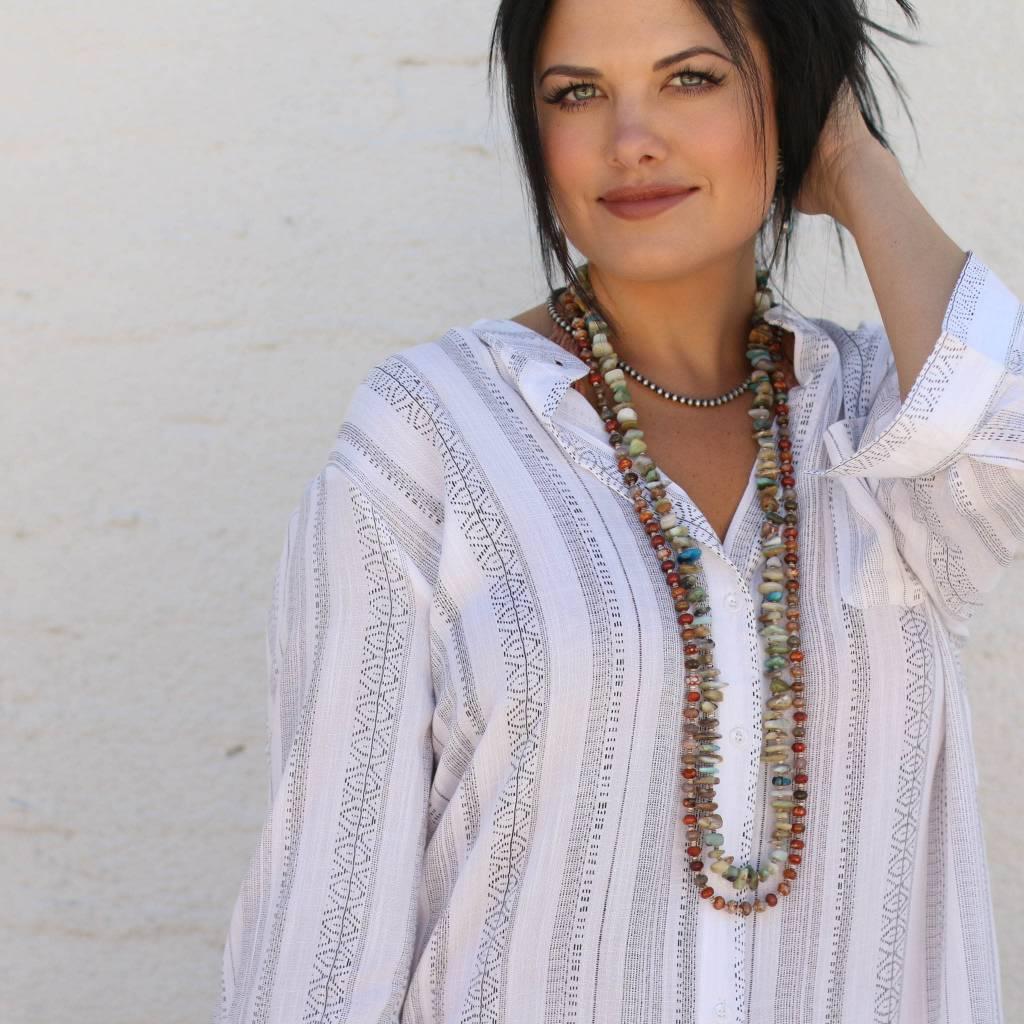 Tribal Twist Black & White Tunic