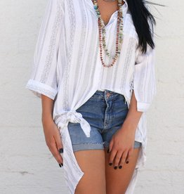 Tribal Twist Black & White Tunic