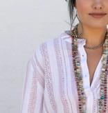 Tribal Twist Red & White Tunic