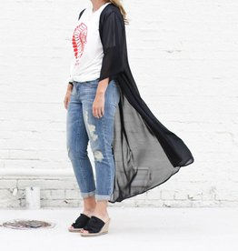 BLACK Chiffon Sheer Duster