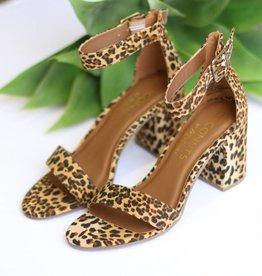 Leopard Ankle Strap Sandal