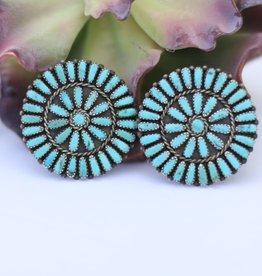 Kingman Turquoise Cluster Earring