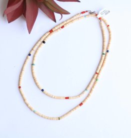 """Punchy's Multi Melon Shell Heishe Necklace 40"""""""