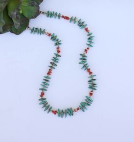 """Punchy's Campo Frio Turquoise Necklace w/Spiny Oyster 25"""""""