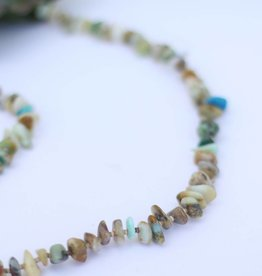 """Punchy's Blue Opal and Heishe Necklace37.5"""""""