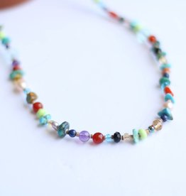 Multi Beaded Necklace 21""