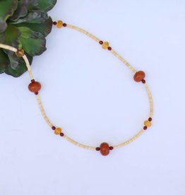 """Punchy's Amber Citrine Carnelion Melon Shell 33"""""""