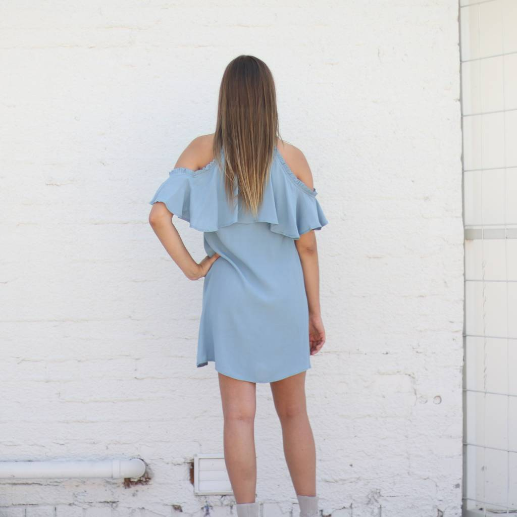 Greece Cold Shoulder Dress