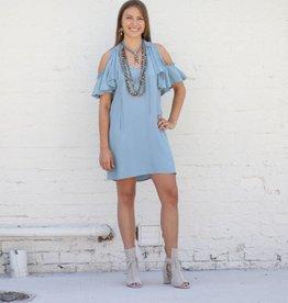 Greece Cold Shoulder Dress