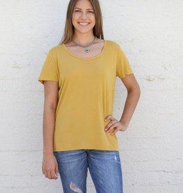Mustard Basic Knit Tee
