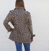 Leopard Print Cargo Jacket
