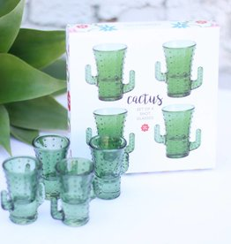 Punchy's Cactus Shot Glass - Set of 4