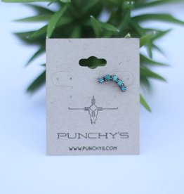 Sterling Silver Green Turquoise Ear Cuff