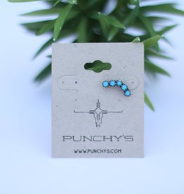Punchy's Sterling Silver Blue Turquoise Ear Cuff