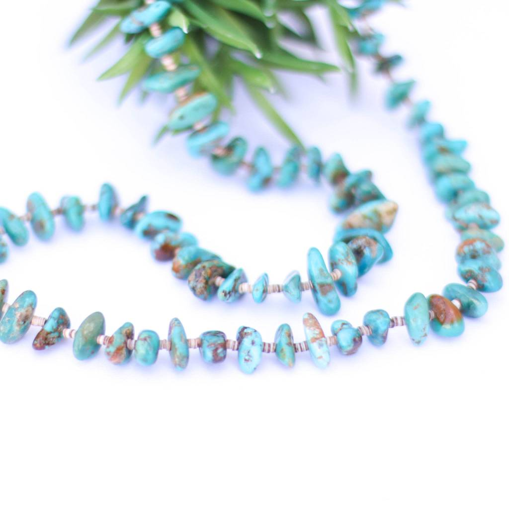 28in Campo Frio Turquoise and Heishe Necklace
