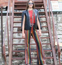 Black Serape Bell Bottom Pants