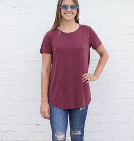 Punchy's Bordeaux Crew Neck Basic Tee