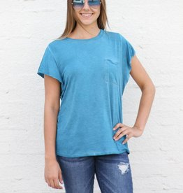 Flutter Sleeve Pocket Tee