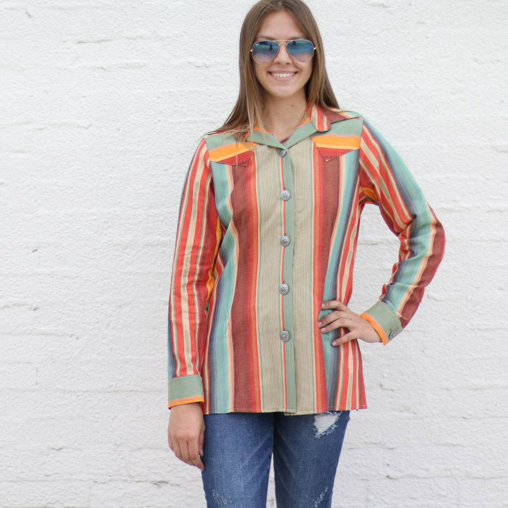 Punchy's Grand Canyon Serape Button Down Shirt