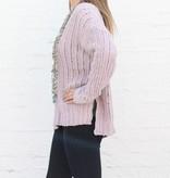 Mauve Chenille Distressed Sweater