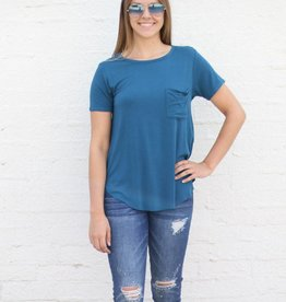 Scoop Neck Pocket Tee