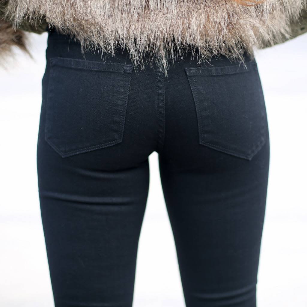 Black Joyrich Comfort Colored Skinny