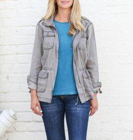 Distressed Grey Denim Jacket