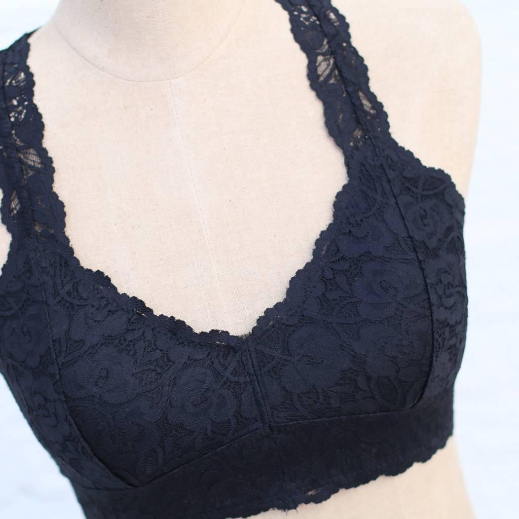 Punchy's Black Racerback Lace Bralette