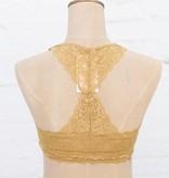 Mustard Racerback Lace Bralette
