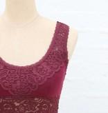 Burgundy Wide Lace Bralette