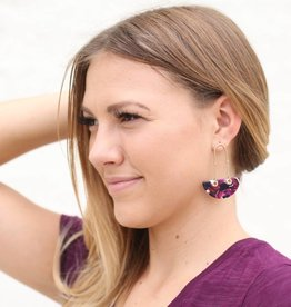 Tortoise Boat Earrings PURPLE