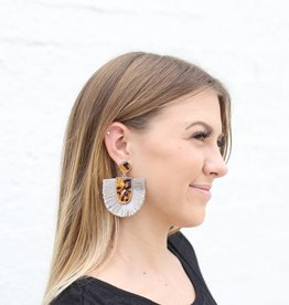 Punchy's Tortoise Fringe Earrings GREY