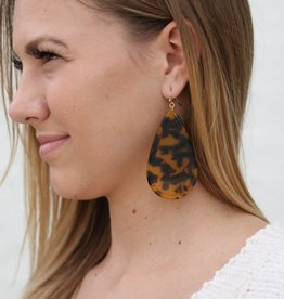 Teardrop Tortoise Shell Earrings
